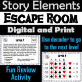 Identifying Story Elements Escape Room - ELA (Setting, Conflict, Theme, etc.)