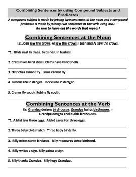 Identifying Subject and Predicate