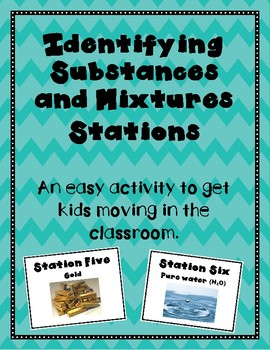 Identifying Substances and Mixtures Station Activity