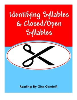 Identifying Syllables & Closed/Open Syllable AVID notes