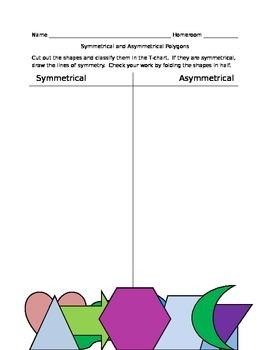 Identifying Symmetrical and Asymmetrical Polygons