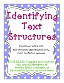 Identifying Text Structure