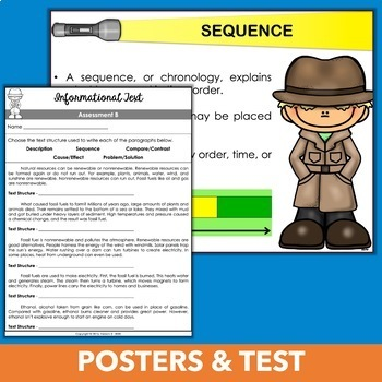 Identifying Text Structure Unit - Third Grade & Fourth Grade Informational Text
