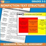 Identifying Text Structure Unit - Third Grade & Fourth Gra