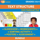 Identifying Text Structure Unit - Third Grade & Fourth Gra