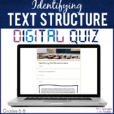 Identifying Text Structure DIGITAL Quiz - Distance Learning