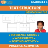 Nonfiction Text Structures Practice Pack - Worksheets & Sorting Activity