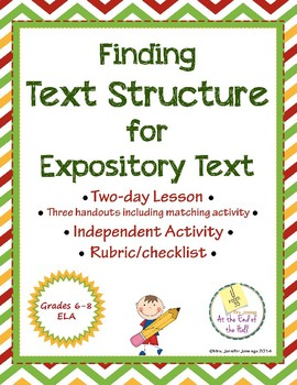 Identifying Text Structure in Expository Text
