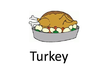 Identifying Thanksgiving vocab for Special Education Classroom