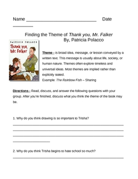 Theme Of A Story Worksheets - Checks Worksheet