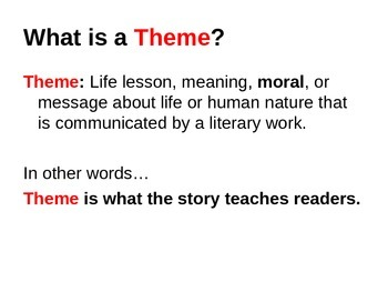 Identifying Theme PowerPoint Lesson with Quiz