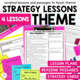Identifying Theme - Small Group Reading Lesson Plans and Passages