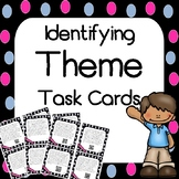 Theme Task Cards With and Without QR Codes - Test Prep