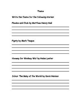 Identifying Themes