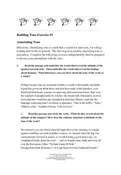 Identifying Tone Exercises