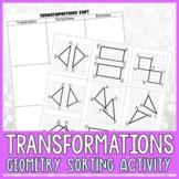 Geometry Transformations Sorting Activity #mathmarketmonday
