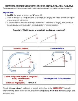 Identifying Triangle Congruence Additional Support
