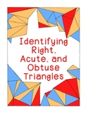 Identifying Triangles Acute Obtuse Right Bookmarks Posters Coloring Geometry