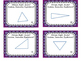 Identifying Triangles by Angles and Sides Task Cards