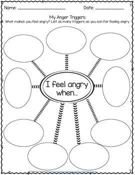 Anger Management Worksheets by Pathway 2 Success | TpT