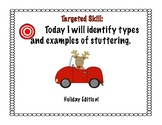 Identifying Types/Examples of Stuttering