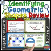 Identifying Types of Geometric Shapes Review Digital Boom Cards
