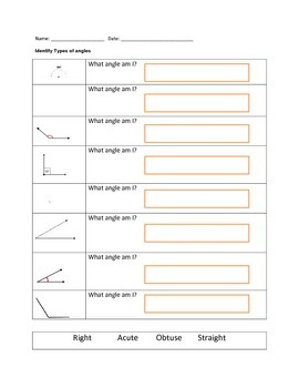 Identifying Types of Angles