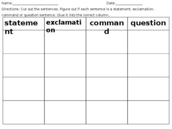 Identifying Types of Sentences