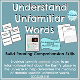 Understanding Unfamiliar Words Activities