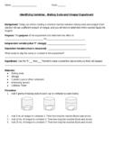 Identifying Variables - Baking Soda and Vinegar Experiment