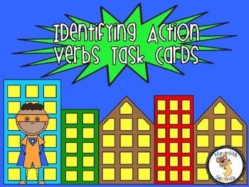 Identifying Verbs Task Cards