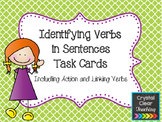 Identifying Verbs in Sentences Task Cards