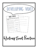 Identifying Voice: Writing Trait Practice