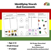 Identifying Vowels and Consonants Pack in Colour