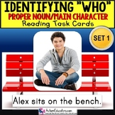 "Identifying WHO Task Cards PROPER NOUNS ""Task Box Filler"" for Special Education"