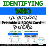 Identifying WHO in Pictures BOOM Card™ and Printable BUNDLE