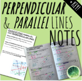 Identifying & Writing Equations of PARALLEL & PERPENDICULAR Lines - Notes