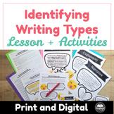 Identifying Writing Types: Narrative, Explanatory, Argumentative