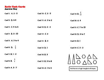 Identifying a Ratio Task Cards