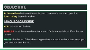 Identifying and Analyzing Theme