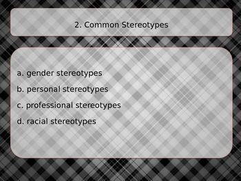 Identifying and Avoiding Stereotypes PowerPoint Lesson