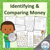 Identifying Canadian Money Coins and Bills Worksheets Ontario Grade 1