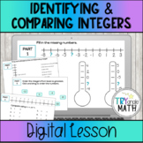 Identifying and Comparing Integers on a Number Line - Digi