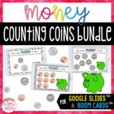 Identifying and Counting Coins Digital Task Cards Bundle  