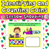 Identifying and Counting Coins Seesaw Shopping Activities
