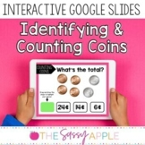 Identifying and Counting Coins Task Cards in Google Slides