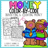Identifying and Counting Money Color-By-Number Spring Themed