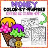 Identifying and Counting Money Color-By-Number Summer Themed
