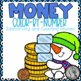 Identifying and Counting Money Color-By-Number Winter Themed