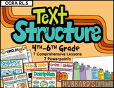 Identify & Determine Text Structure w/ 7 Lesson Plans - PowerPoints - Posters